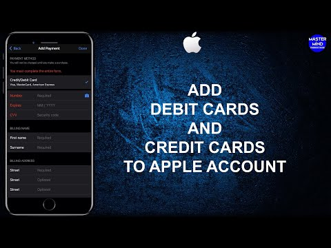 How to add debit cards and credit cards to apple account