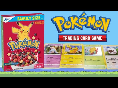 Pokemon *cereal*! free pokémon cards in general mills cereal: pokémon 25th anniversary