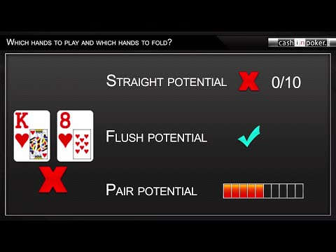 Which hands to play & which hands to fold in texas holdem poker