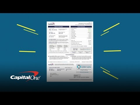 New credit card statement details | capital one
