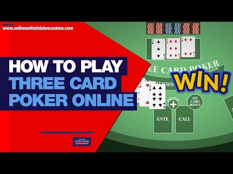 How to play three card poker online and win