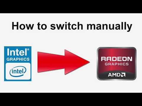 How to switch between switchable graphic cards manually intel to amd check running gpu devices