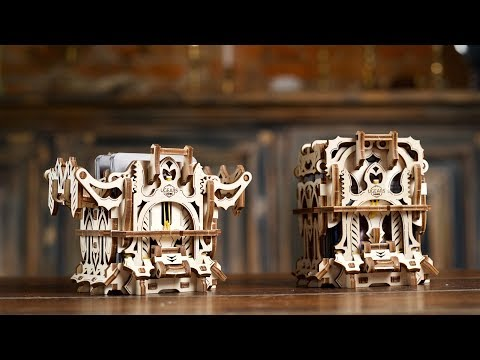 Deck box | mechanical wooden device for tabletop games | ugears games collection