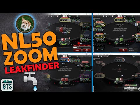 Leakfinder! high stakes poker pro reviews student playing nl50 zoom