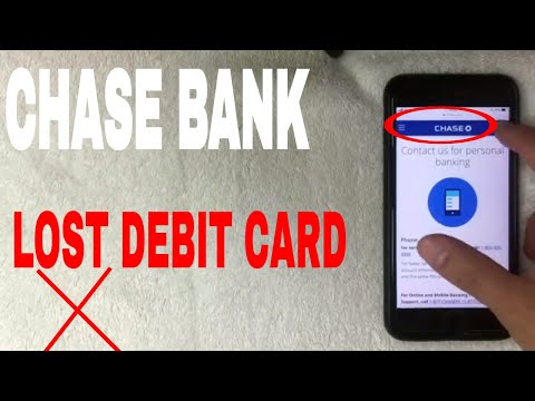 ✅ chase bank lost debit card 🔴