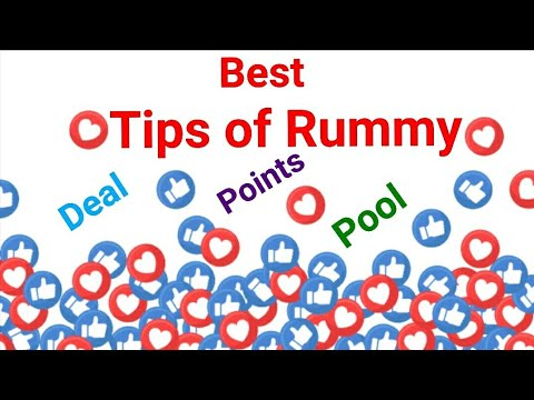 Rummy tricks i how to play smartly point,deal and 101 pool rummy games i
