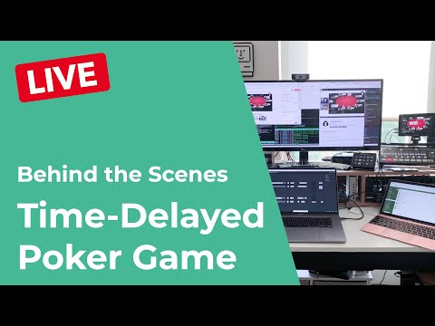 🔴 live q&a! how we broadcast a live charity poker game on a 15 minute delay with live commentary!