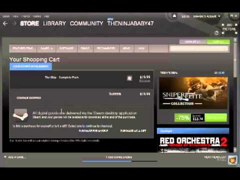 How to: steam- add money, buy games