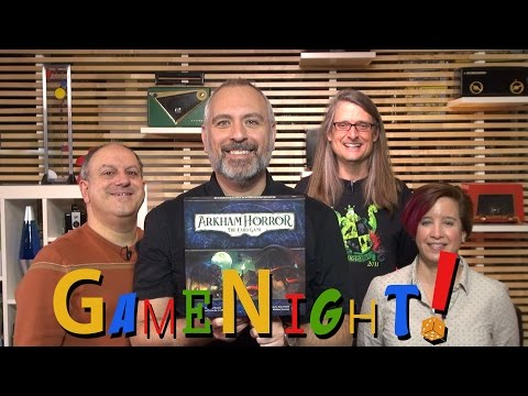 Arkham horror: the card game - gamenight! se4 e24 - how to play and playthrough