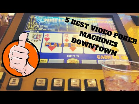 The 5 best video poker games downtown, 24 hours in vegas with neonvacation
