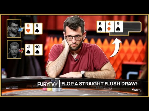 When you flop a straight flush draw in poker!