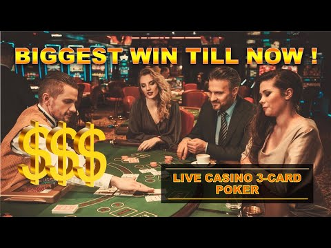 How to play 3 card poker - big wins in live session - tutorial for beginners