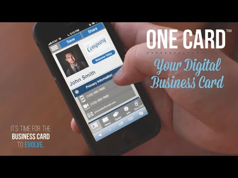 One card™   your digital business card