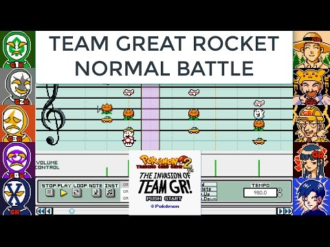 Team great rocket normal battle (mario paint cover) from pokemon trading card game 2 - dannymusic