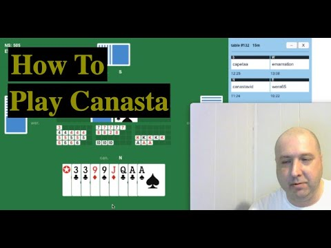 How to play canasta - watch a couple games