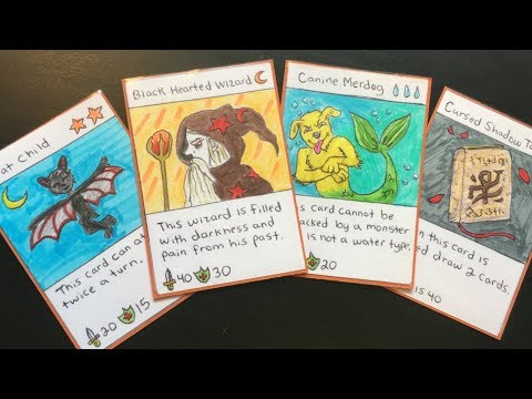 How to make your own trading card game using index cards