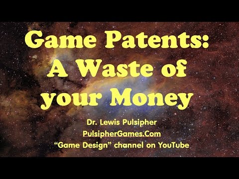 Game patents - a waste of your money