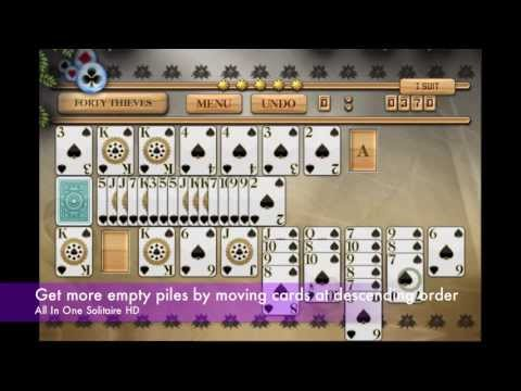 How to play forty thieves solitaire - pandora's solitaire collection (best card games 2018)