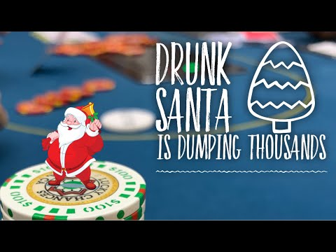Santa is drunk and dumping thousands - poker hand history reviews