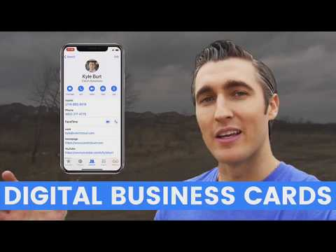 How to make a digital business card for prospecting