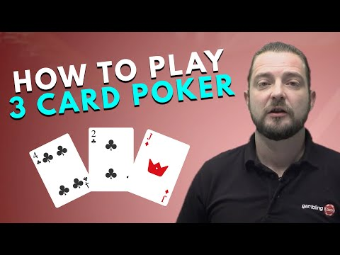 Learn how to play 3 card poker in under 2 minutes