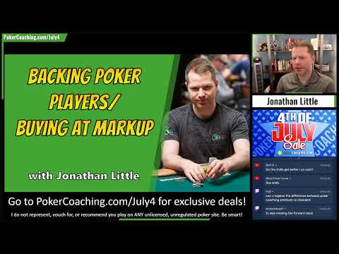 Staking / backing poker players - reality check! - a little coffee with jonathan little