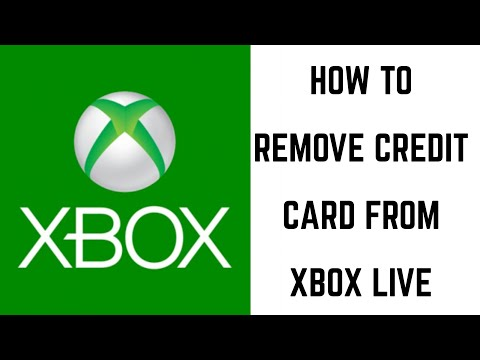 How to remove credit card from xbox