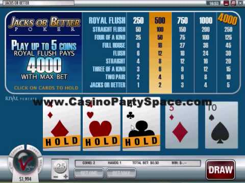 How to play video poker in an online casino