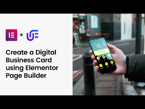 Create a digital business card using elementor page builder   unlimited elemenets
