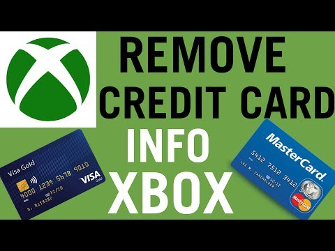 How to remove credit card info from an xbox account
