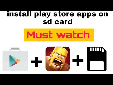 How to install play store apps on sd card