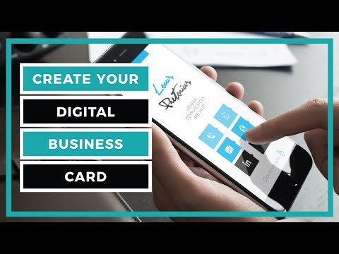 How to create a digital business card