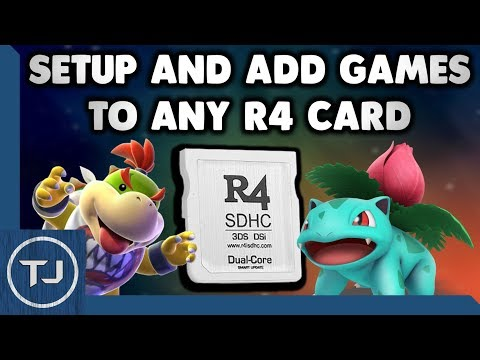 Setup and add games to any r4 card (ds lite/dsi/3ds) 2018!