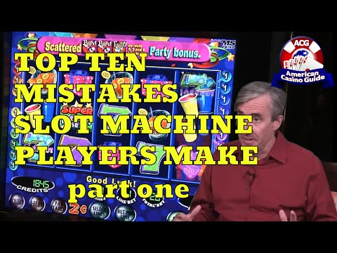 """Top 10 mistakes slot machine players make with mike """"wizard of odds"""" shackleford - part one"""