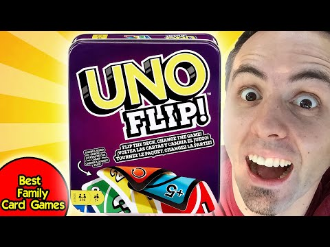 Best card games for family   how to play uno flip & uno flip review