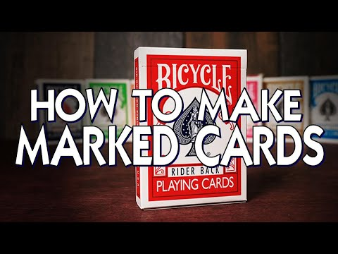 How to make a deck of marked cards - secretly mark any deck!
