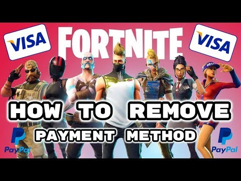 Fortnite how to remove payment method