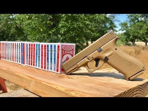 How many deck of cards does it take to stop a bullet?