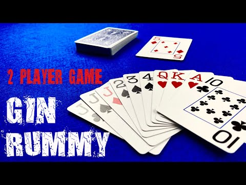 How to play gin rummy - card games for 2 players