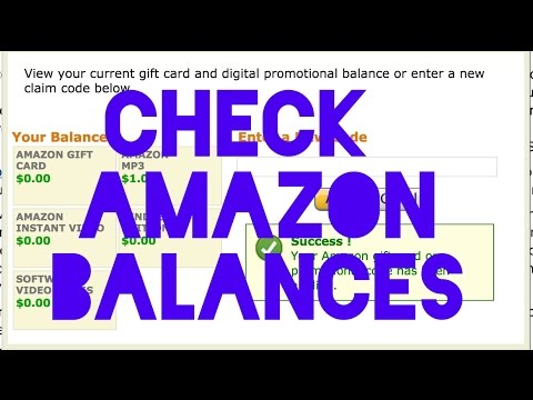 Check/redeem your amazon gift card or promotion balances