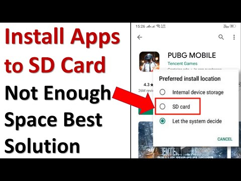 How to install apps to sd card