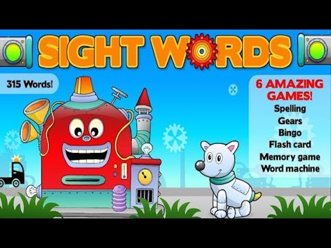 Action sight words: games & flash cards for reading success - app demo