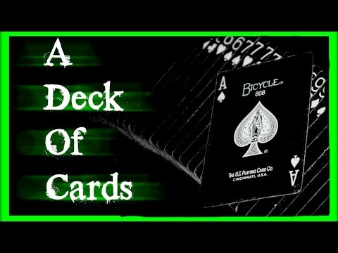 Scary games- a deck of cards
