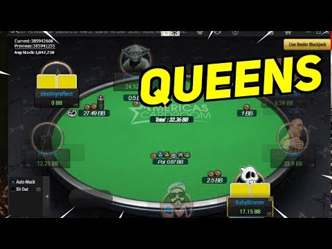 Pro poker moments: how does he have queens?