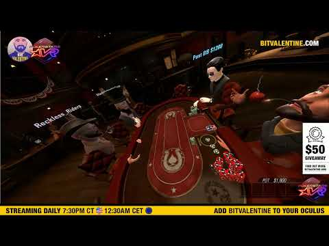 Pokerstars vr live stream ️ tournament style ️ bitvalentine with friends & everyone is welcome
