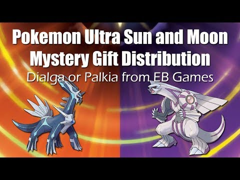 Mystery gift distribution dialga or palkia from eb games or gamestop