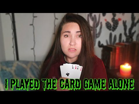 I played the card game alone   don't play this at 3 am (card game 3 am challenge)