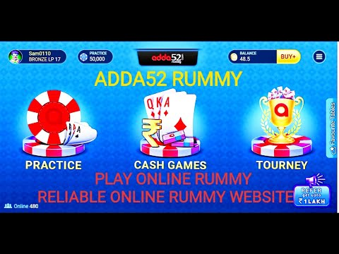 How to play online rummy with adda52 rummy website for beginners (bengali) it's reliable site