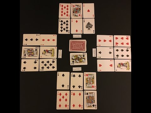 How to play golf card game (6 cards)