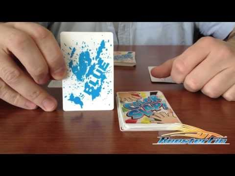 Fast paced, lots of action card game - color slap